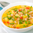Vegetarian white bean soup — Stock Photo