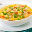 Vegetarian white bean soup — Stock Photo #13211482