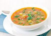Fresh lentil soup in bowl — Stock Photo