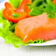 Fresh smoked salmon fillet with vegetables — Stock Photo #13630998