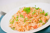 Plate of Shrimps Risotto — Stock Photo