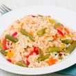 Rice with vegetables — Stock Photo