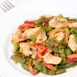 Fresh Green Beans Cooked with chicken and vegetables — Stock Photo #19272335