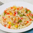 Rice with vegetables and fish — Stock Photo #19695853