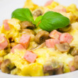 Omelet with mushrooms, ham and cheese — Stock Photo