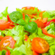 Fresh vegetable salad on plate — Stock Photo