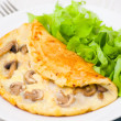 Omelet with mushrooms — Stock Photo #22691925