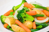 Mixed vegetables on a plate — Stockfoto