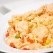 Chicken Breast with Rice and vegetables — ストック写真