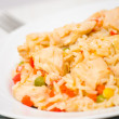 Chicken Breast with Rice and vegetables — 图库照片