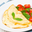 Omelet with vegetable salad — Stock Photo #25786389