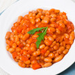Beans with vegetables — Stock Photo