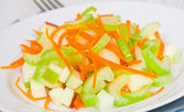 Salad with celery, carrots and apples — Stock Photo