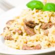 Risotto with liver — Stock Photo