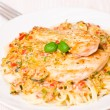 Chicken Breast with spaghetti and vegetable sauce — Stock Photo #29602809