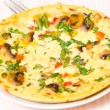 Omelette with mushrooms and vegetables — Stock Photo