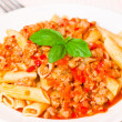 Stock Photo: Pastpenne bolognese