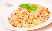 Rice with minced meat — Stock Photo