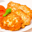 Potato Pancake with chicken — Stock Photo