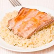 Ribs with rice — Stock Photo