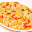 Rice with vegetables and fish — Stock Photo #37250149