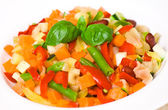 Mixed vegetables on a plate — Stock Photo