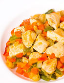 Vegetables and chicken breast — Stock Photo