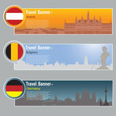 Travel banners — Stock Vector