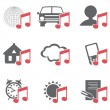 Multimedia Icons — Stock Vector #14140854