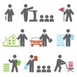 Stockvektor : Business icons