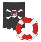 Pirátská vlajka — Stock vektor