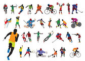 Silhouettes athlete — Stock Vector