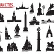 Symbols of Russian cities — Stock Vector