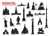 Symbols of Russian cities — Wektor stockowy
