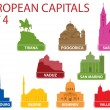 Royalty-Free Stock Vector Image: European capitals