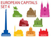 European capitals — Stock Vector