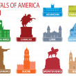 Capitals of America — Stock Vector