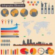 Stock Vector: Infographics. Tourism and Travel