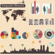 Royalty-Free Stock Vector Image: Infographics elements. City