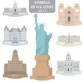 Symbols of US cities — Stock Vector