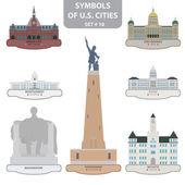 Symbols of US cities — Stock Vector