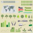 Ecological Infographics — Stock Vector