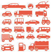 Icon set. Cars — Stock Vector