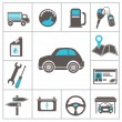 Auto icons — Stock Vector