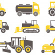 Construction machines  — Stock Vector