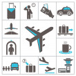 Airport icons — Stock Vector #30190563