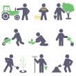 Agriculture. Set icons — Stock Vector