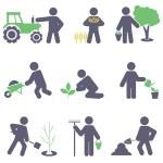 rolnictwo. zestaw ikon — Wektor stockowy