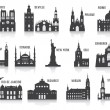 Silhouettes of cities — Stock Vector #31236945
