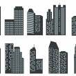 Silhouettes of skyscrapers — Stock Vector #31598903